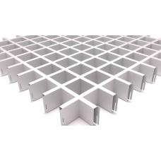 Потолок Грильято ячейка 60х60, d10, белый матовый А903
