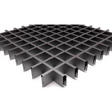 Потолок Грильято ячейка 60х60, d10, металлик А907