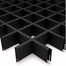 Потолок Грильято ячейка 75х75, d10, черный А911