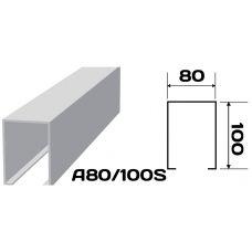 Реечный потолок «Кубообразная рейка» A80/100S (комплект)