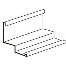 Угол пристенный стальной PLL А6/А8 3000 мм (белый)